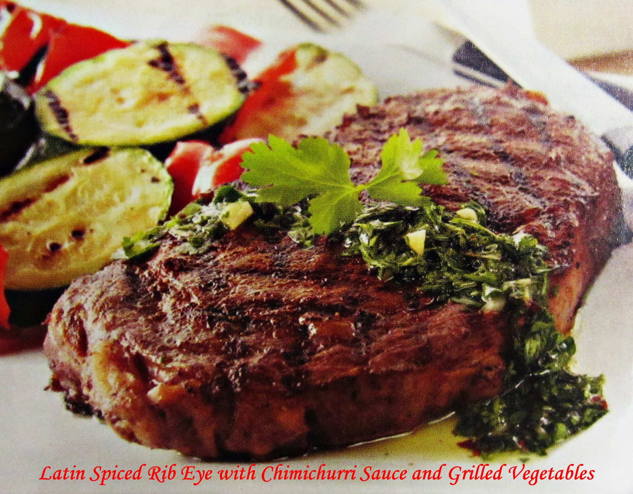 Latin Spiced Rib Eye Steak