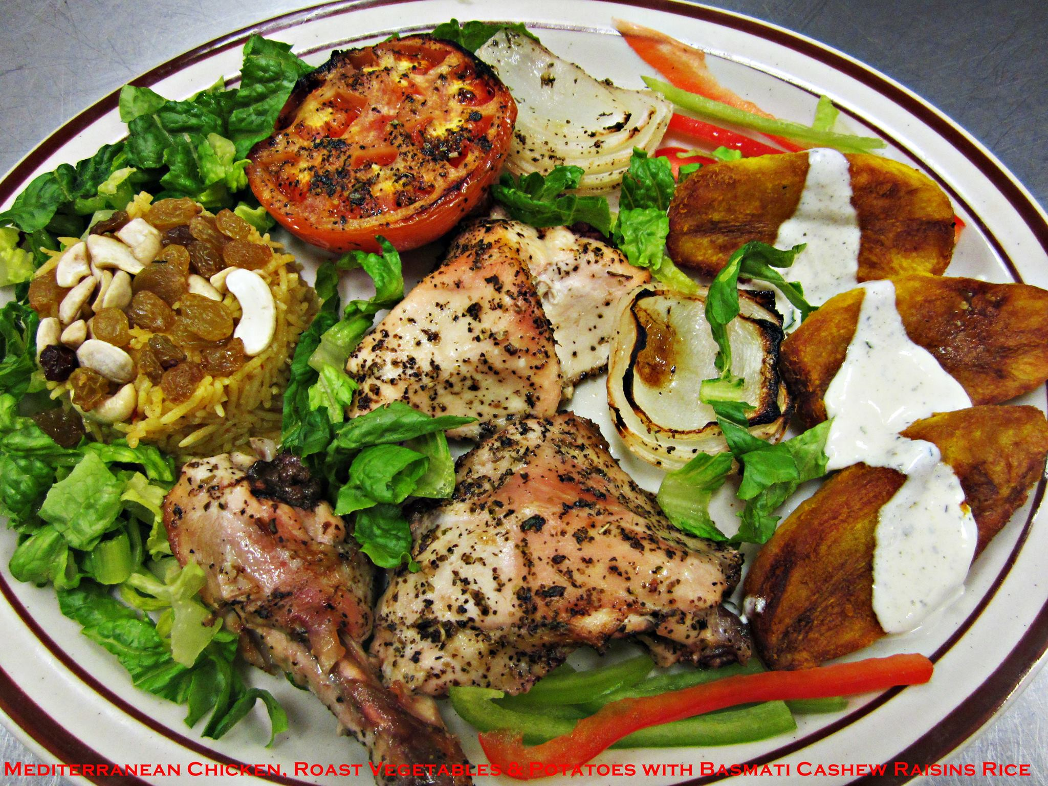 Roasted Mediterranean Herbs Chicken,