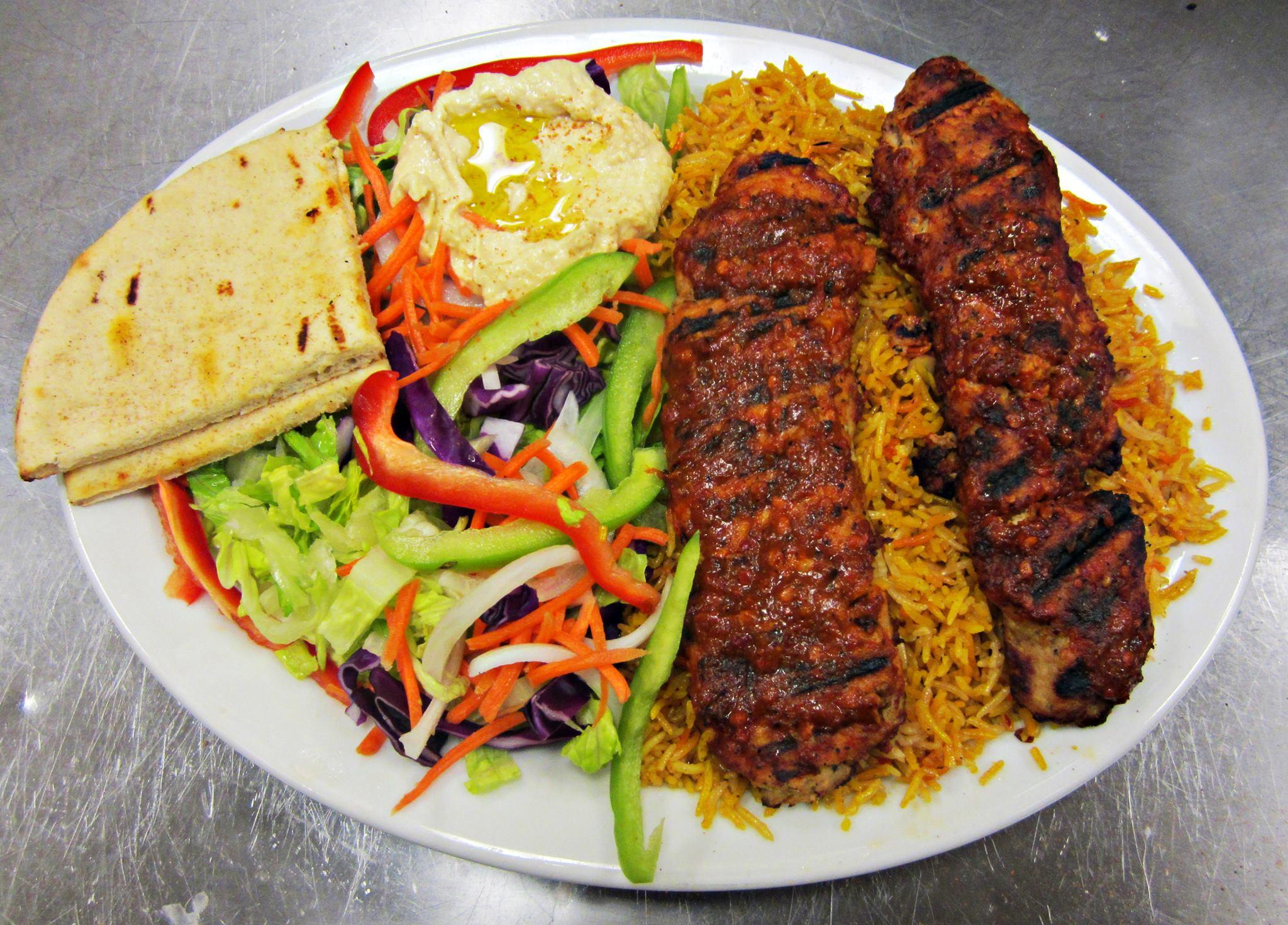 Chicken Kebob Diner Plate.
