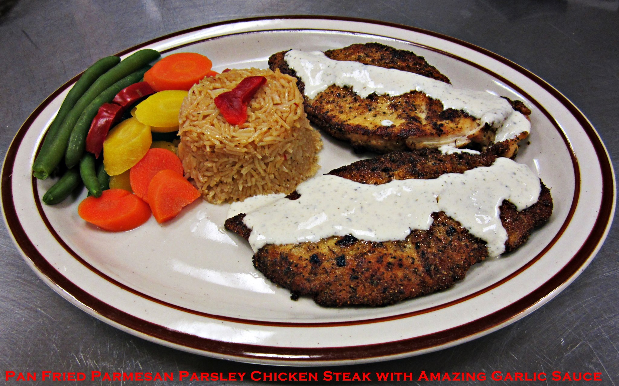 New Italian Chicken Pan Fried Chicken Steak!